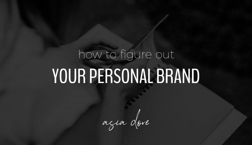 Close-up of hands flipping through a notebook with text - how to figure out your personal brand