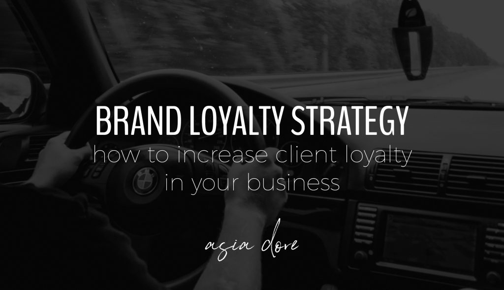 Hands on a BMW steering wheel with text - brand loyalty strategy, how to increase client loyalty in your business